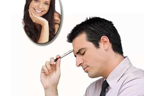 homem pensando na mulher